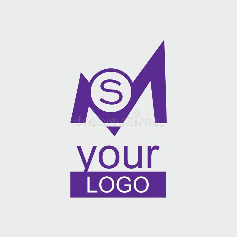 Logotipo de la violeta del ms Initial imagenes de archivo
