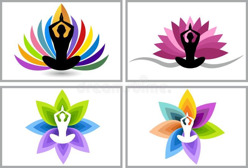 Logotipo de la yoga libre illustration