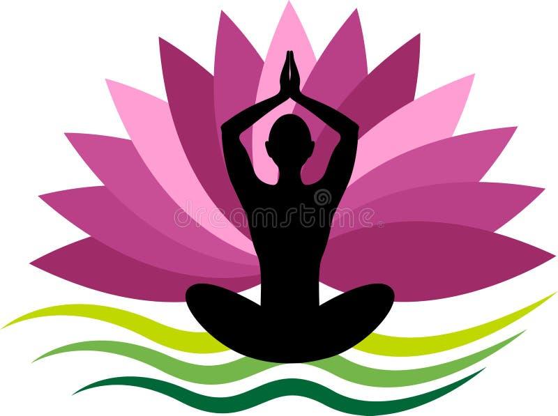 Logotipo de la yoga stock de ilustración