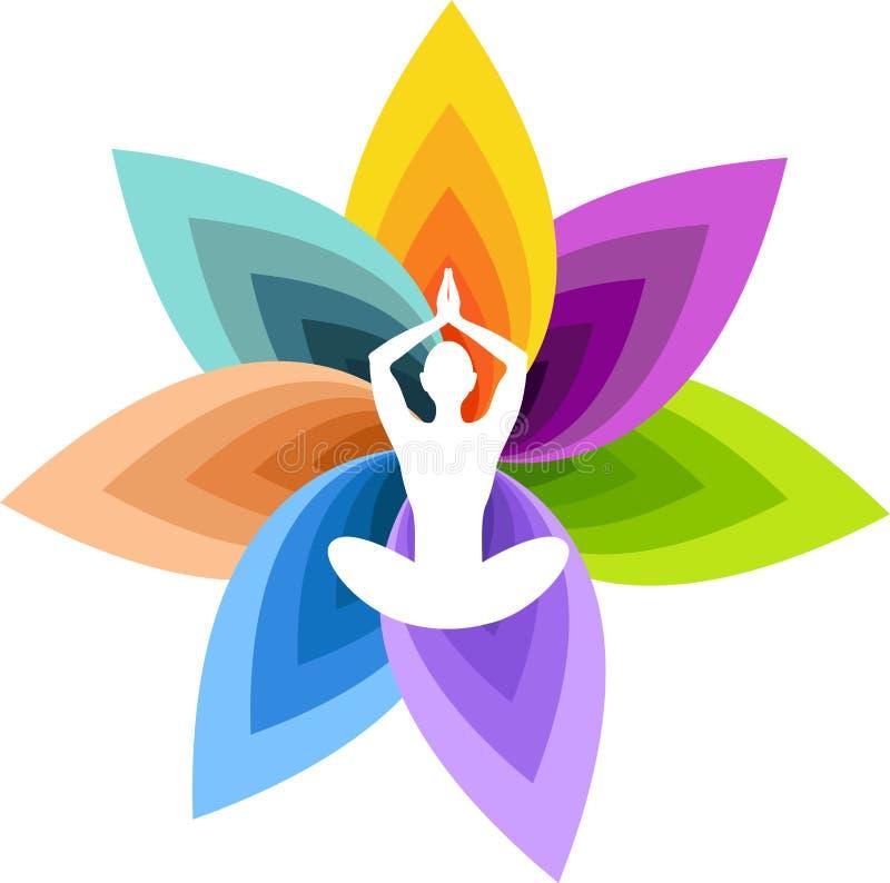 Logotipo de la yoga ilustración del vector