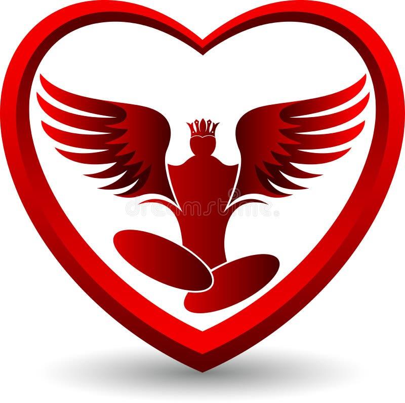 Logotipo de la yoga del ángel libre illustration