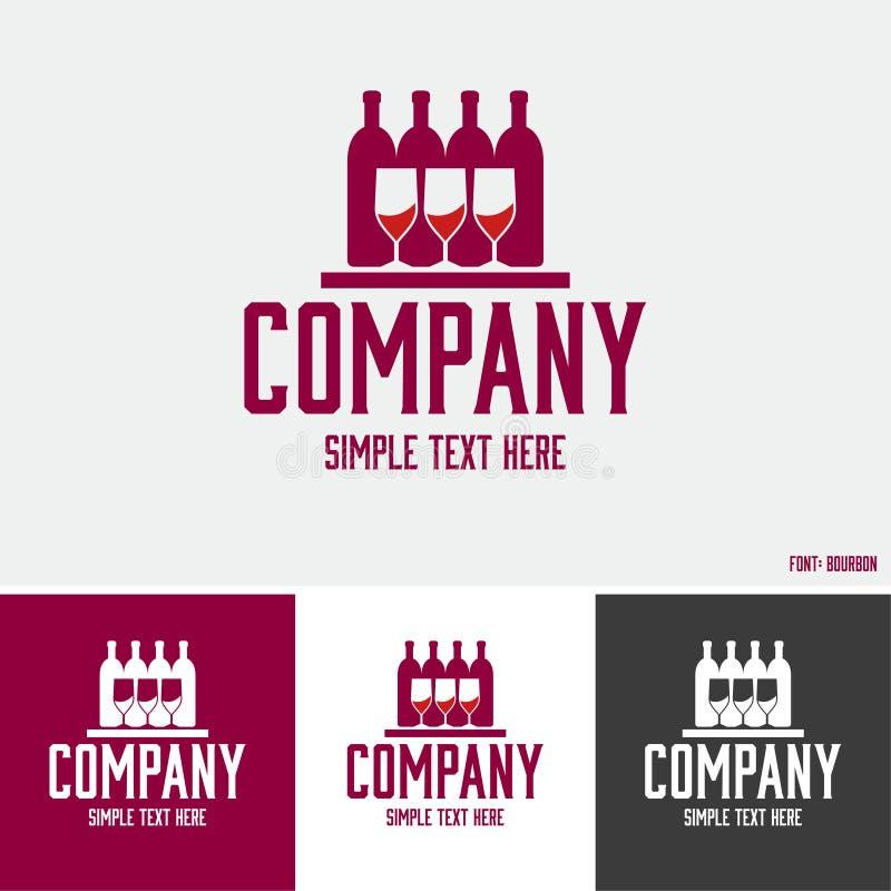Logotipo de las bebidas alcohólicas fotos de archivo