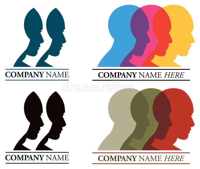 Logotipo de las caras ilustración del vector