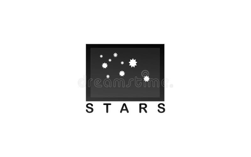 Logotipo de las estrellas foto de archivo libre de regalías