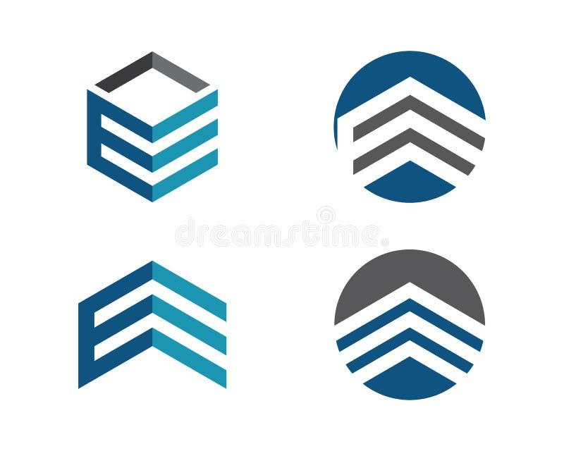 Logotipo de las finanzas del negocio stock de ilustración