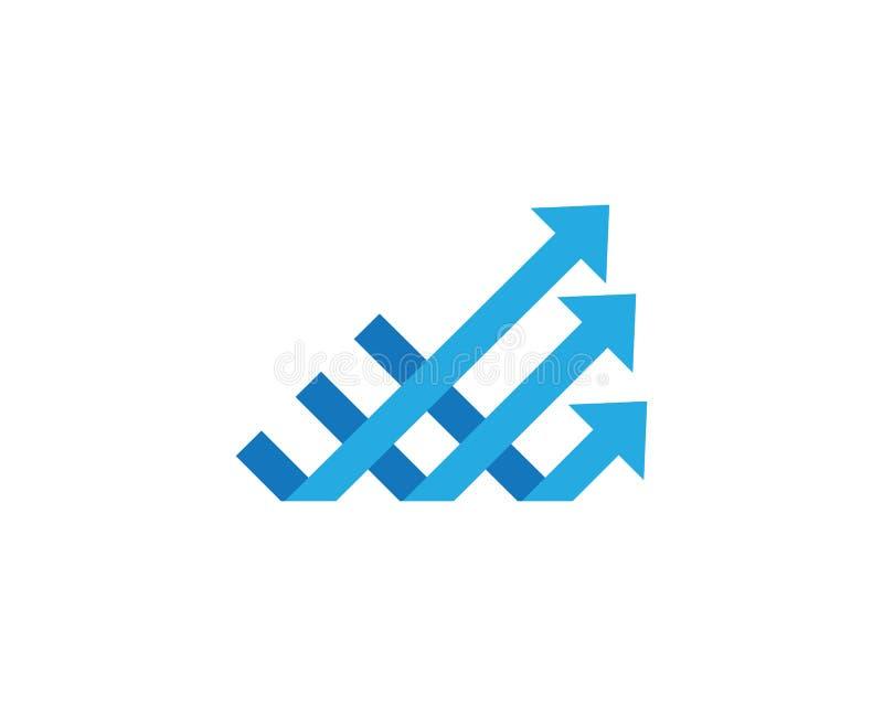 Logotipo de las finanzas del negocio ilustración del vector