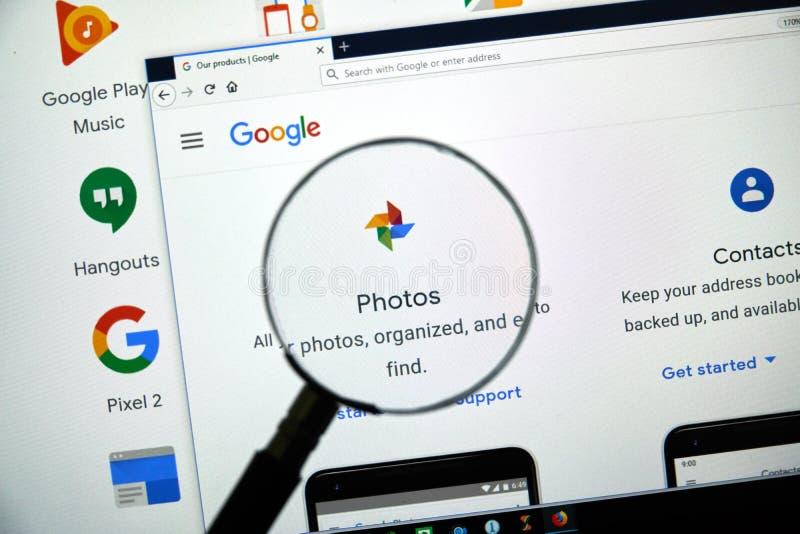 Logotipo de las fotos de Google imagen de archivo