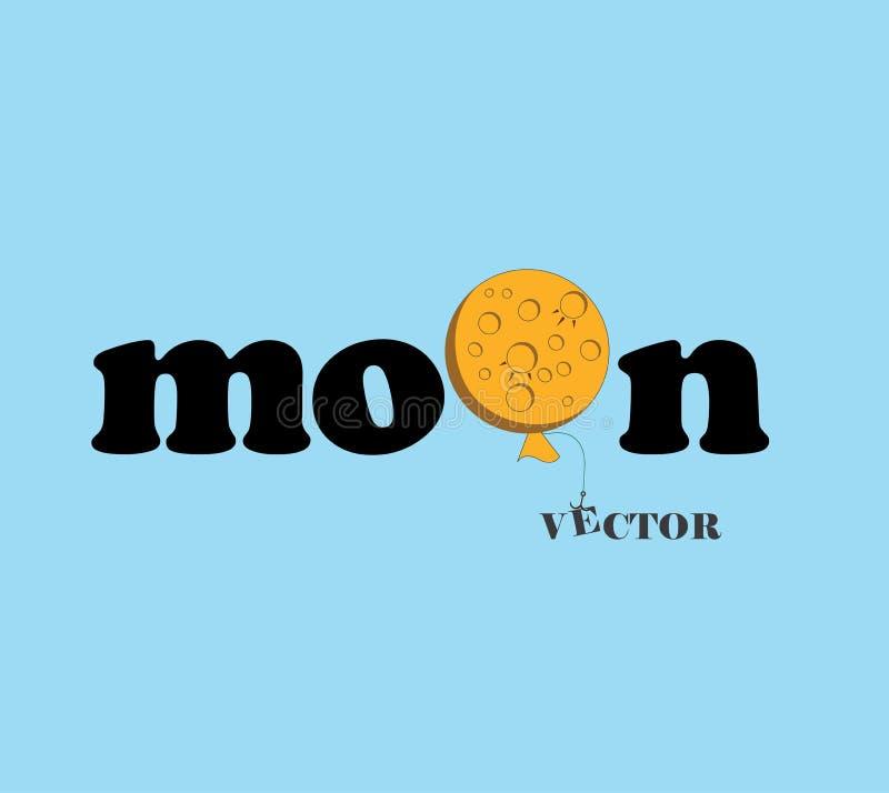 Logotipo de las fuentes de la luna en fondo oscuro fotos de archivo libres de regalías