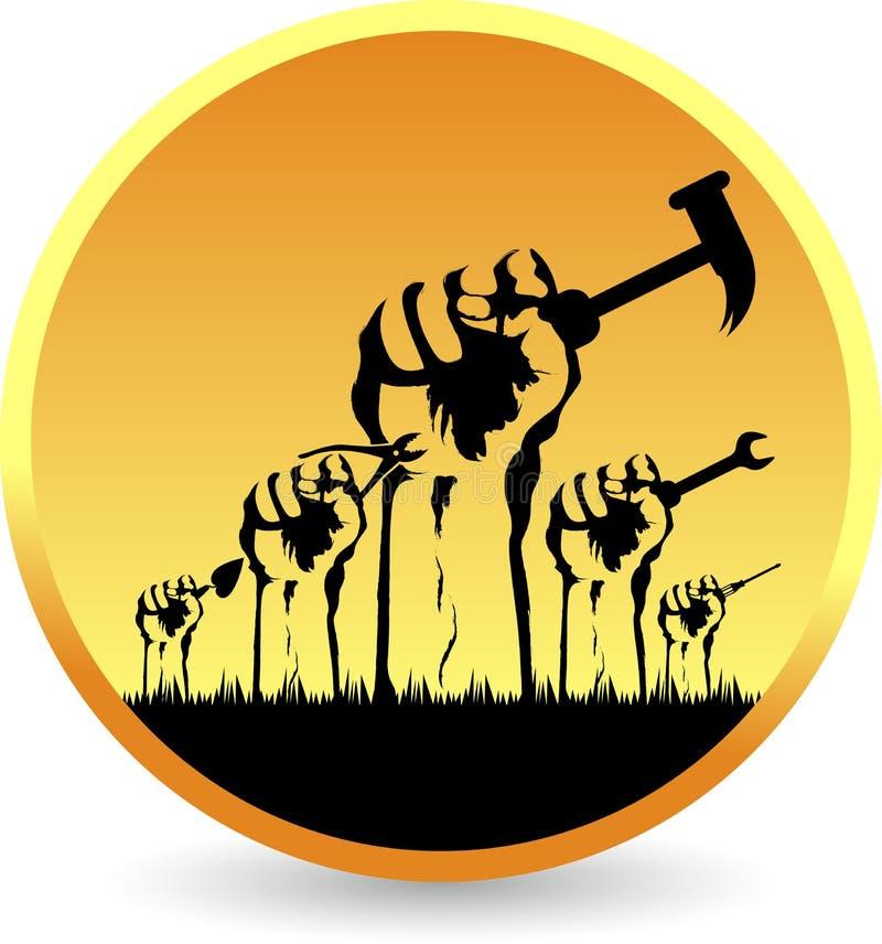 Logotipo de las herramientas de las manos ilustración del vector
