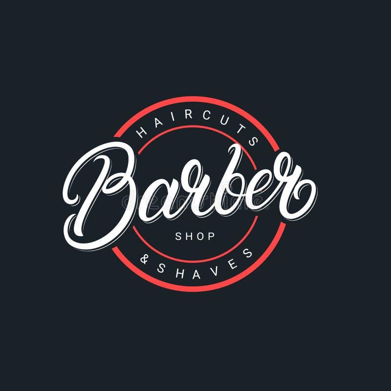 Logotipo de las letras de Barber Shop libre illustration