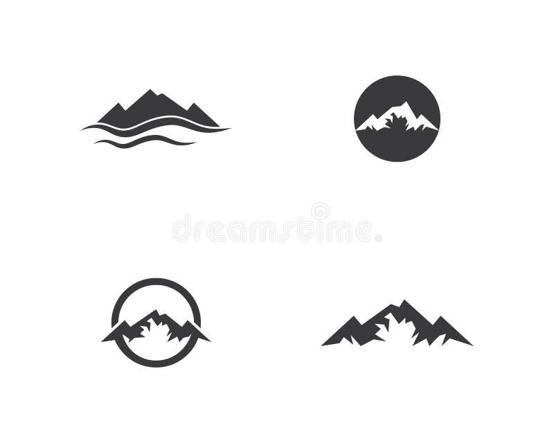 Logotipo de las montañas ilustración del vector