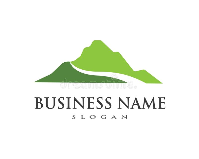 Logotipo de las montañas stock de ilustración