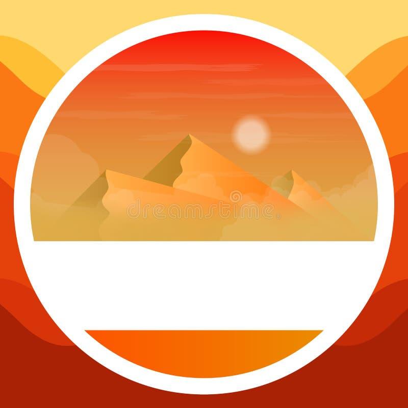 Logotipo de las montañas egipcias libre illustration