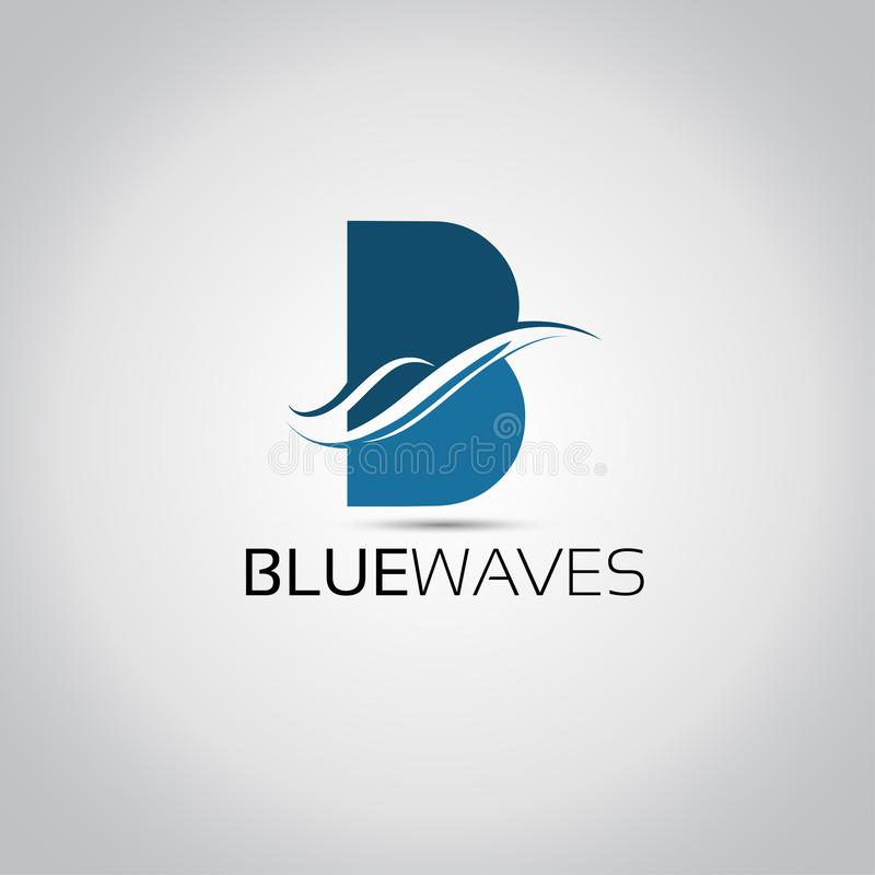 Logotipo de las ondas de B Lettter libre illustration
