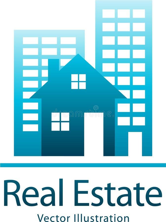Logotipo de las propiedades inmobiliarias ilustración del vector