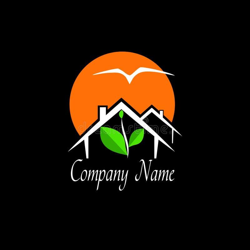 Logotipo de las propiedades inmobiliarias o de la agencia de viajes ilustración del vector