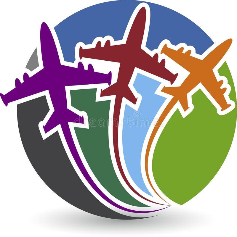 Logotipo de los aeroplanos stock de ilustración