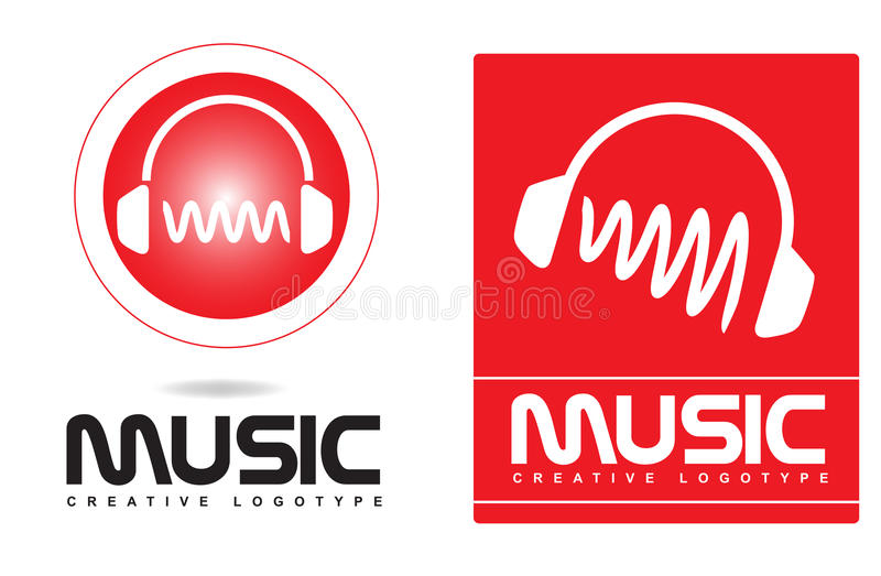 Logotipo de los auriculares de la música