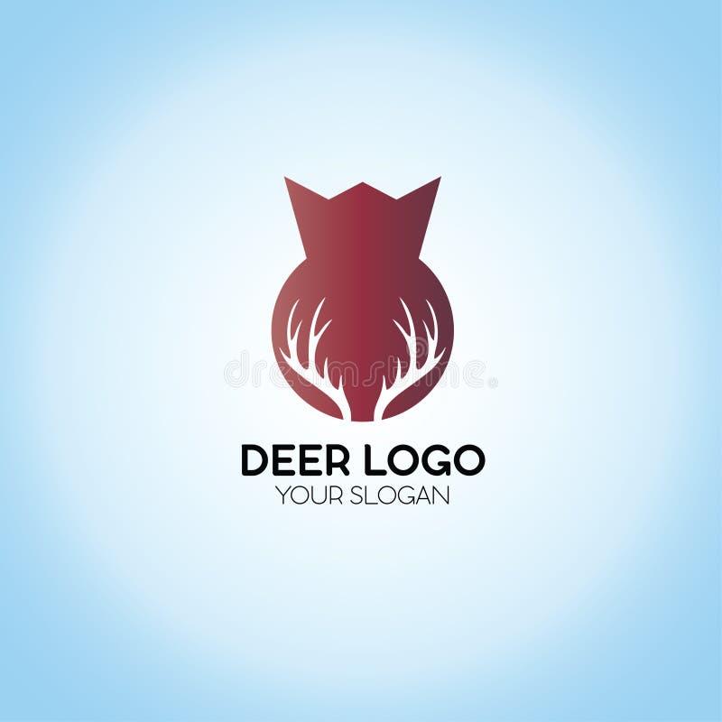 Logotipo de los ciervos stock de ilustración