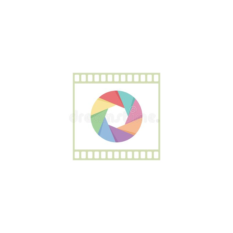 Logotipo de los clichés del obturador de la fotografía ilustración del vector