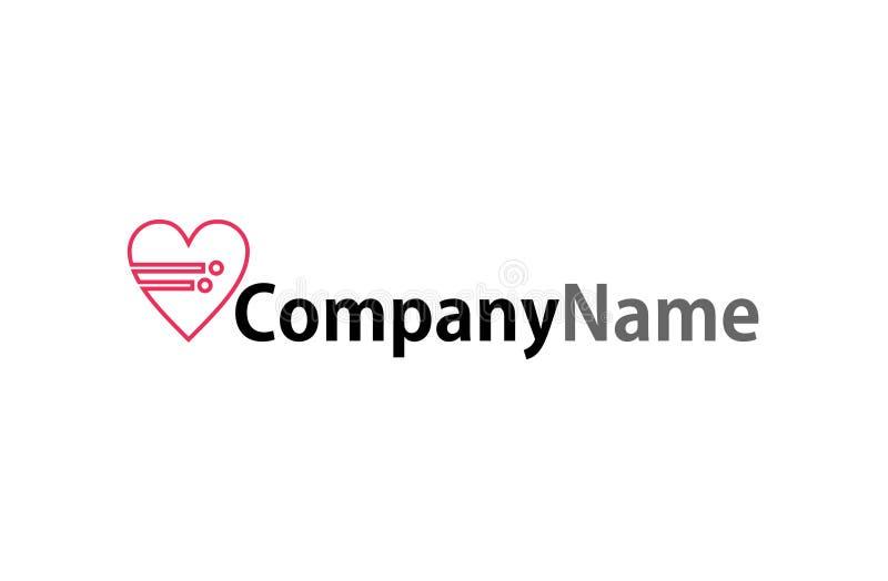 Logotipo de los datos del corazón libre illustration