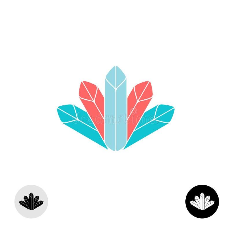 Logotipo de los diamantes Algunas formas del creyón libre illustration