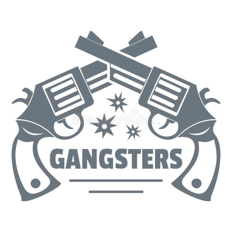 Logotipo de los gángsteres, estilo del vintage stock de ilustración