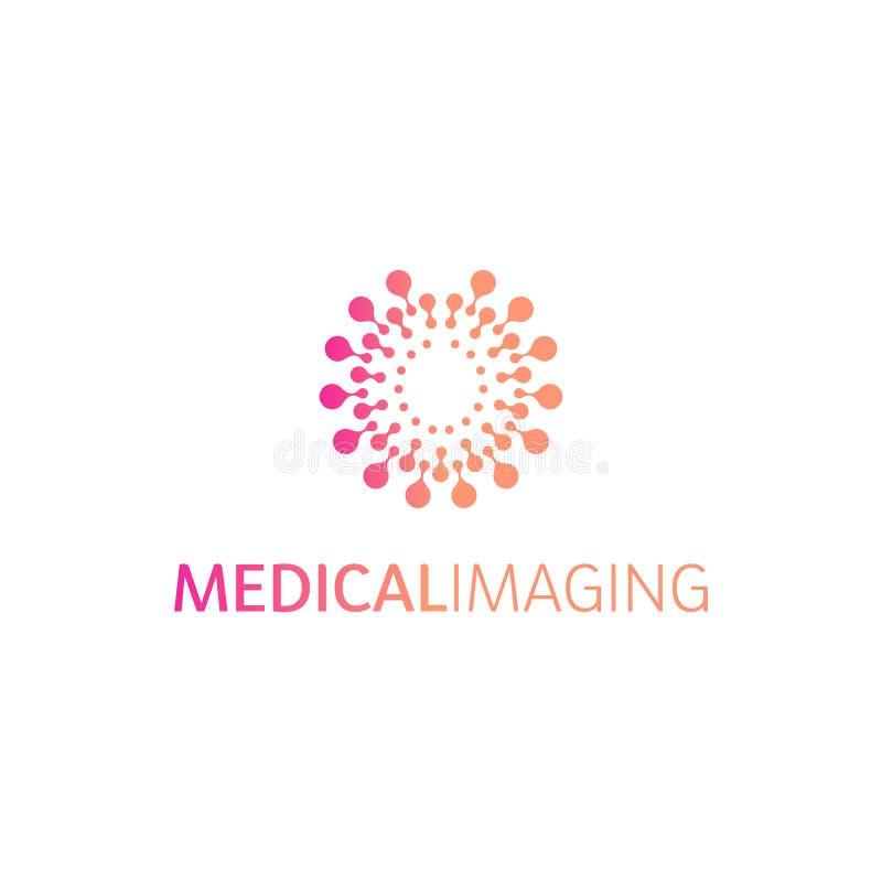 Logotipo de los hemisferios del cerebro, formas redondas, plantilla inusual del logotipo del vector abstracto Ciencia médica u ot stock de ilustración