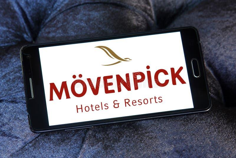 Logotipo de los hoteles y de los centros turísticos de Mövenpick fotografía de archivo