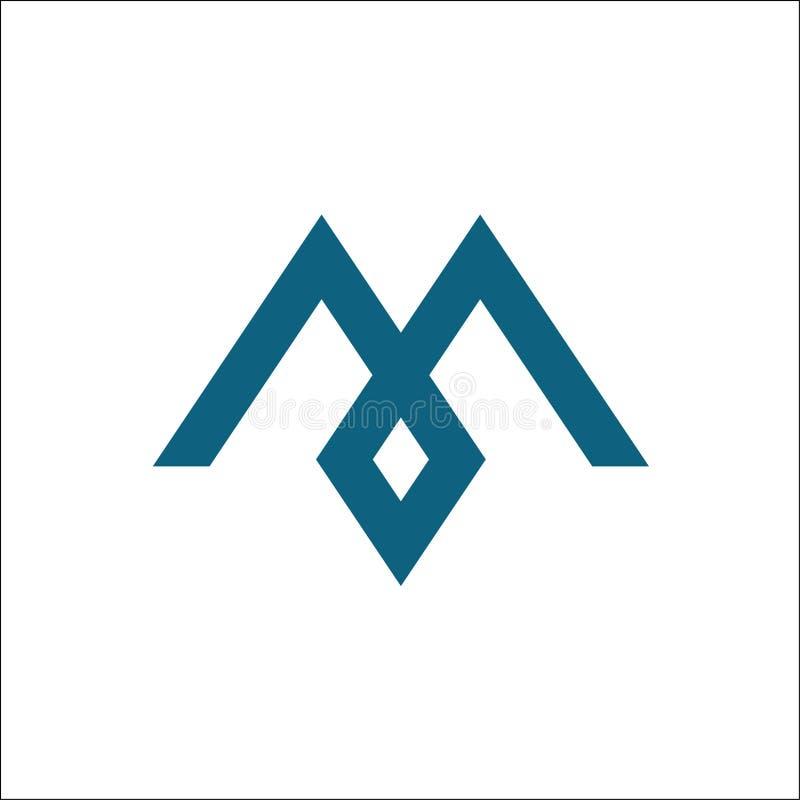 Logotipo de los iconos del vector de la letra M stock de ilustración