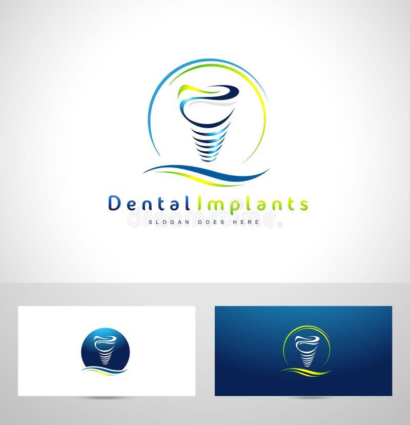 Logotipo de los implantes dentales libre illustration