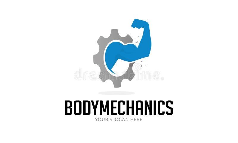 Logotipo de los mecánicos del cuerpo stock de ilustración