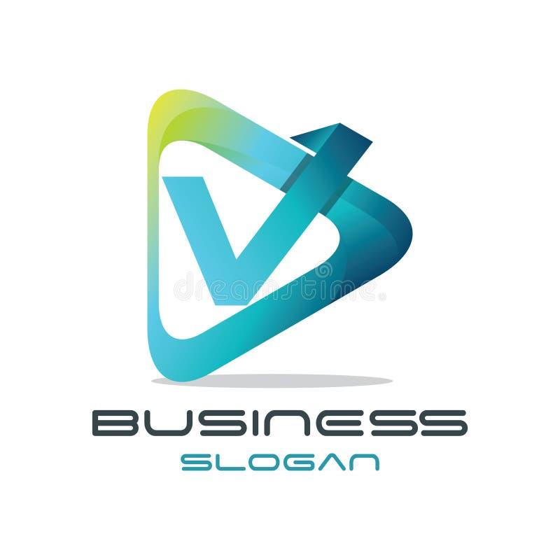 Logotipo de los medios de la letra V libre illustration