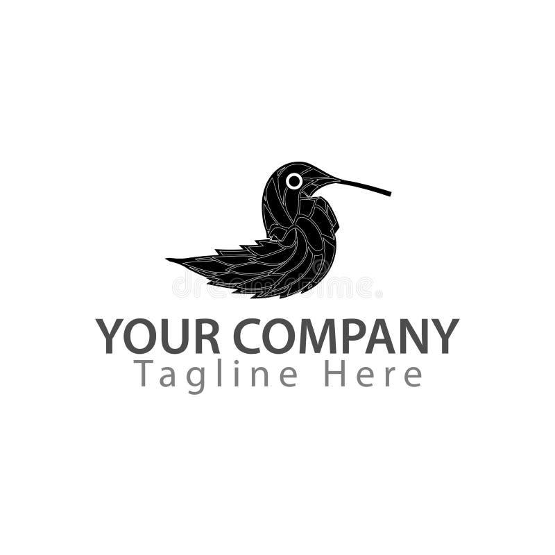 Logotipo de los pájaros - pájaros hechos de hojas Ejemplo en formato del vector ilustración del vector