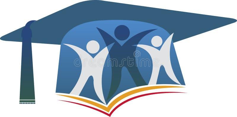 Logotipo de los pares de la graduación stock de ilustración