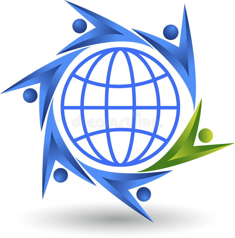 Logotipo de los pares del mundo ilustración del vector