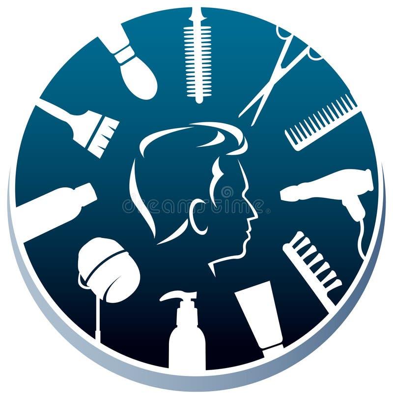 Logotipo de los peluqueros libre illustration