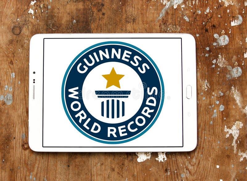 Logotipo de los récores mundiales de Guinness imágenes de archivo libres de regalías
