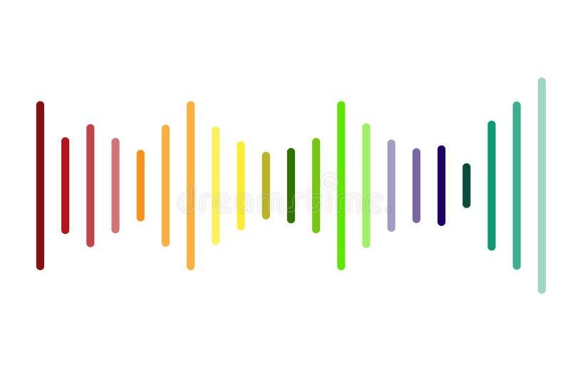Logotipo de los sonidos del volumen en el fondo blanco muestra de los sonidos del volumen stock de ilustración