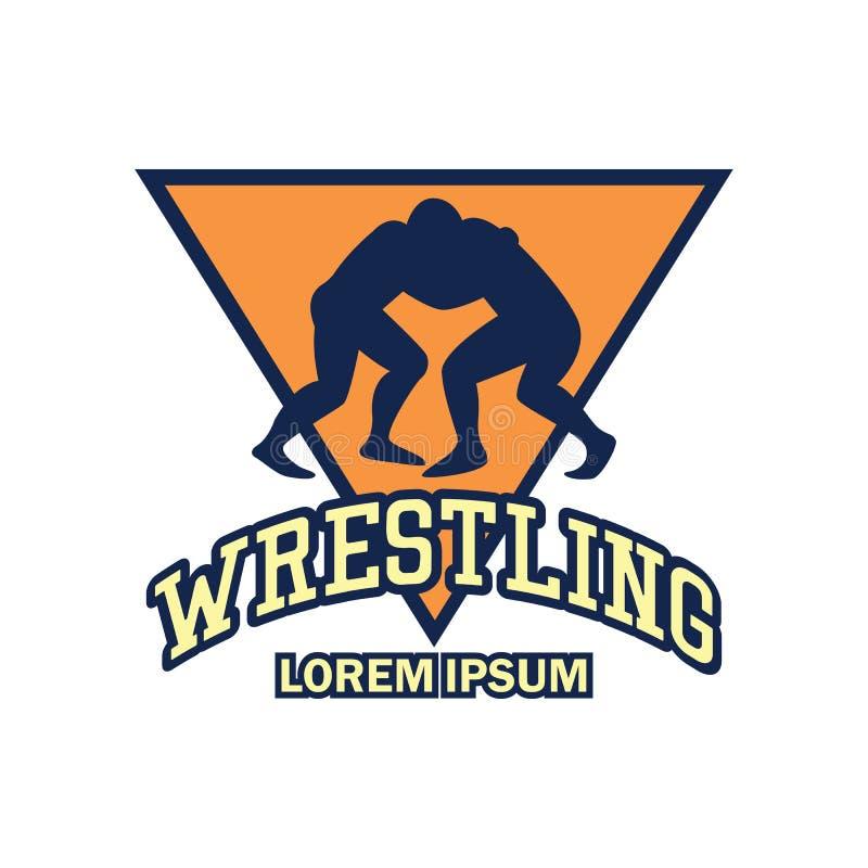 Logotipo de lucha con el espacio del texto para su lema/eslogan libre illustration
