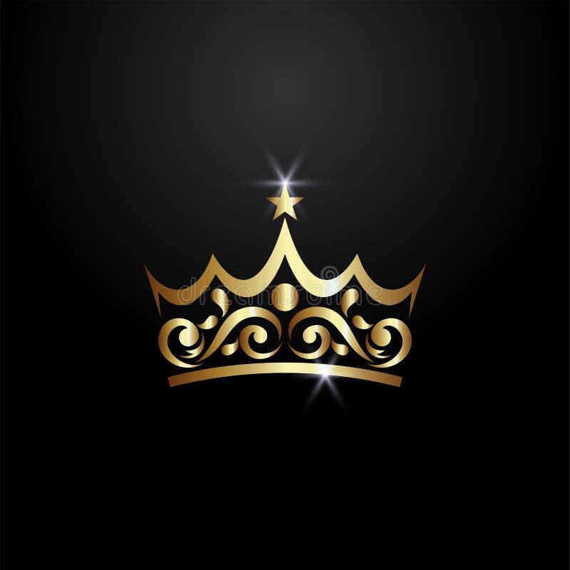 Logotipo de lujo de la corona stock de ilustración