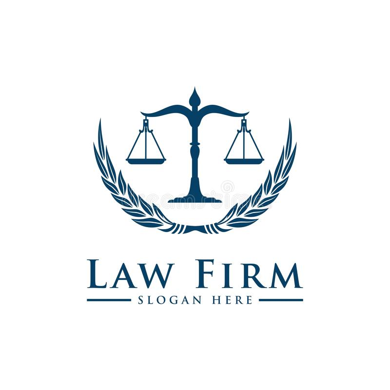 Logotipo de lujo de la ley del vintage stock de ilustración