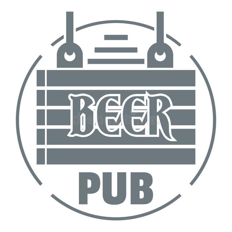 Download Logotipo De Madera Del Pub De La Cerveza Del Tablero, Estilo Gris Simple Ilustración del Vector - Ilustración de bebidas, celebración: 100525091