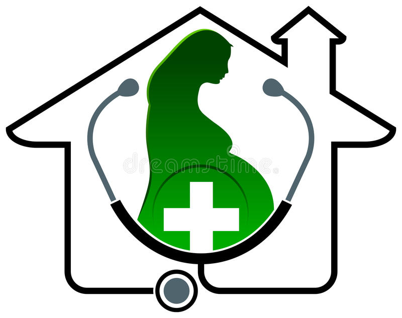 Logotipo de maternidade ilustração do vetor