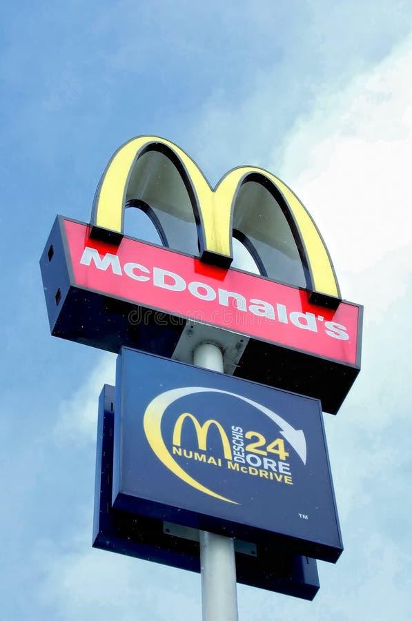 Logotipo de McDonald's fotos de stock