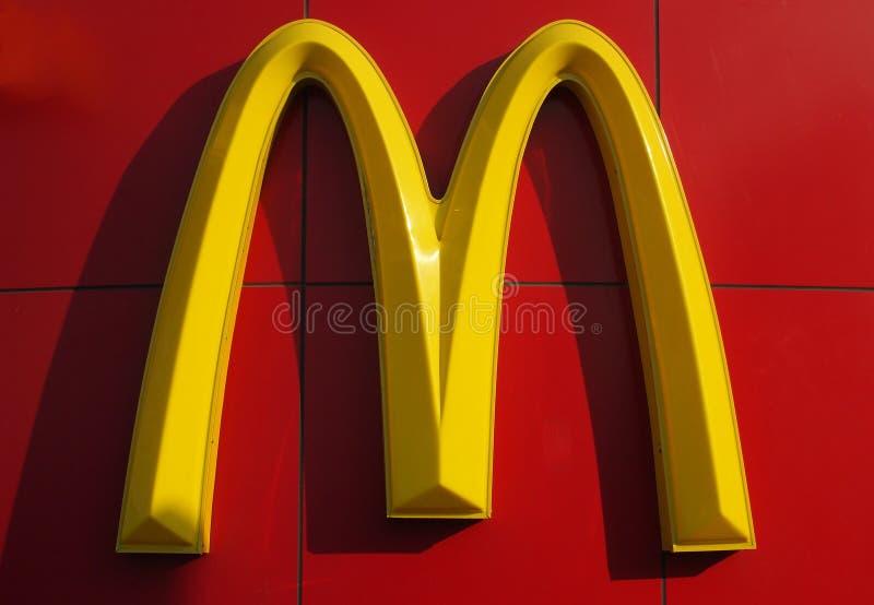 Logotipo de McDonald's fotos de archivo libres de regalías