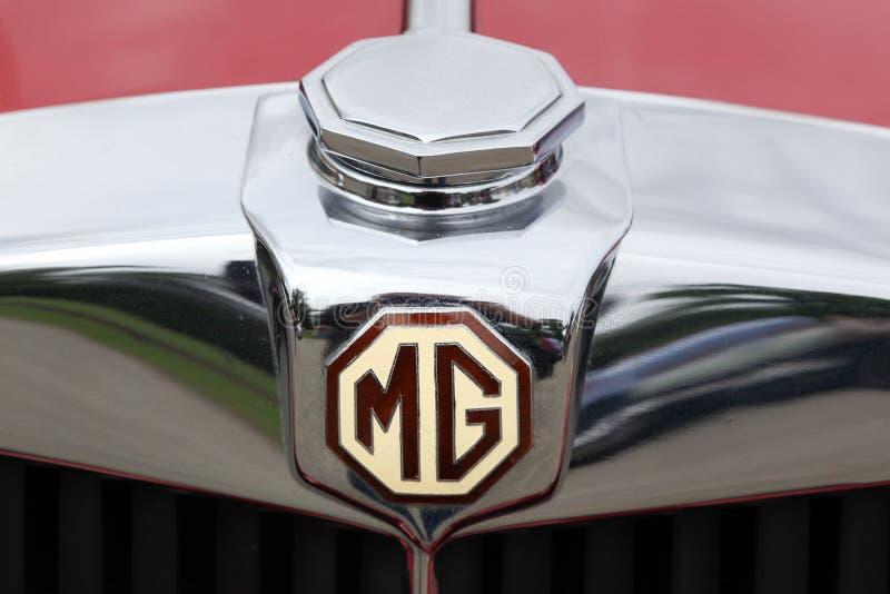 Logotipo de MG en un coche fotos de archivo libres de regalías