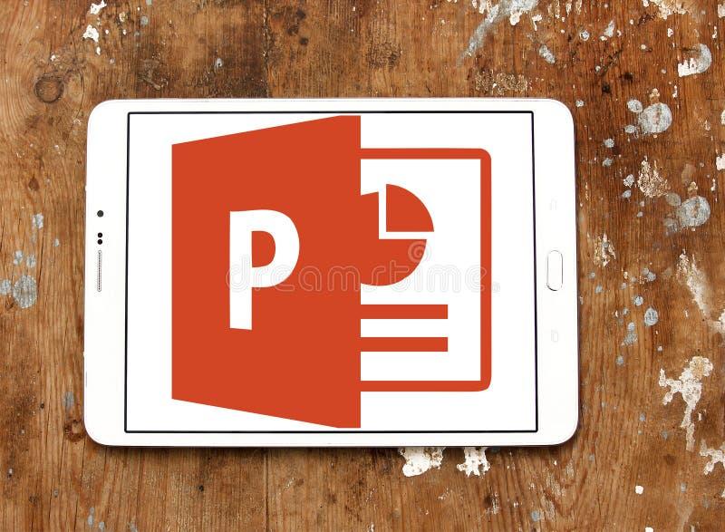 Logotipo de Microsoft PowerPoint fotografia de stock