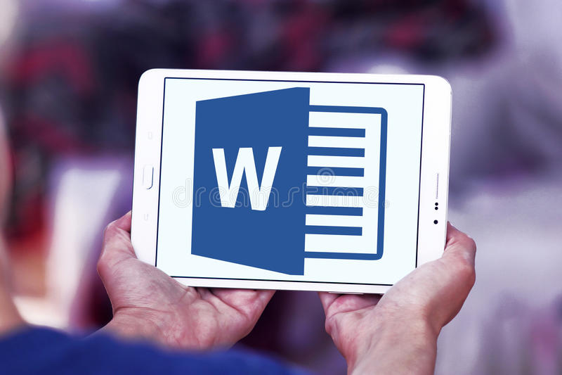 Logotipo de Microsoft Word fotos de stock royalty free
