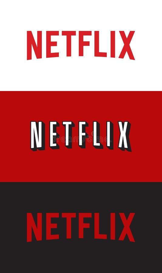 Logotipo de Netflix ilustração do vetor